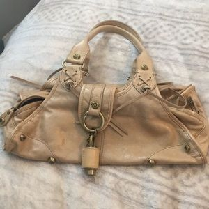 Tan leather Francesco Biasia bag